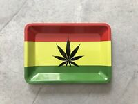"Jamaican Metal Rolling Tray 7"" x 5"""