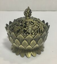 Decorated Brass Charcoal Incense Burner A