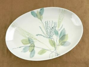 "Vtg Red Wing Pottery Merrileaf Serving Platter 12 3/4"" Hand Painted~EC~ T146"