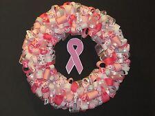 Breast Cancer Awareness Ribbon Wreath
