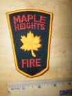 MAPLE HEIGHTS FIRE DEPARTMENT PATCH Ohio Fireman Rescue Free USa Shipping
