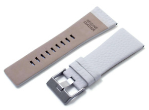 24mm White Leather Lychee Strap For Diesel DZ7313 DZ7322 DZ7257 Watch L159