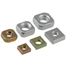 Square Nuts Carbon Steel Zinc Plated Grade 2 Metric Coarse For Bolts & Screws