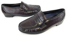 Bostonian Men Shoes 29054 Dress Loafer 11.5 D Burgundy Stitched Soft Leather