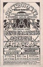 MAN DAVE EDMUNDS ALKATRAZ Roundhouse 1976 mini UK Press ADVERT 5x3 inches