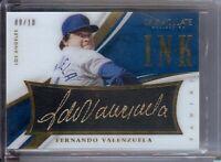 Fernando Valenzuela 2015 Panini Immaculate Ink Auto Autograph Dodgers #17 09/10