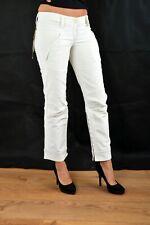 BNWT FORNARINA Capri JEANS Cream Stretch Cotton Pants Trousers W27 W28 Uk10 LOOK
