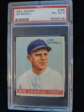 1933 Goudey #165 JOE SEWELL HOF Yankees PSA 4 Check out my other listings !
