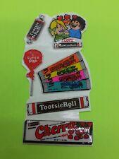 vintage 80's puffy tootsie roll sticker sheet  (free ship $20 min)
