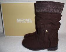 NIB MICHAEL KORS Toddler Girls Caprice Brown Boots (Sizes 7 8 9 13 1) NEW