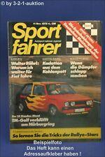 Sportfahrer 11/78 Fiat Ritmo Gr. 2 VW Golf Diesel Gr.1 Puma GTE
