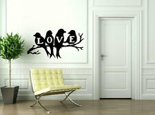 LOVE BIRDS WALL STICKER DECAL-Great for walls of your home and as gifts.