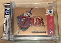 The Legend Of Zelda Ocarina Of Time Collectors Edition N64 Wata Graded 7.0 EX+NM