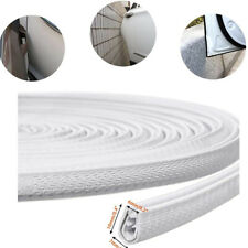 10 Feet White Car Door Trim Edge Lock Guard Moulding Rubber Seal Strip Protector