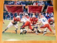 NEBRASKA FOOTBALL CORNHUSKER AARON GRAHAM #54 SIGNED PHOTO 94/95 NATIONAL CHAMPS