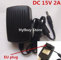 EU DC15V 2A Adapter AC 220v 230v to DC 15v converter Power Supply Charger 5.5mm