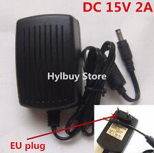 DC15V 2A Adapter Netzteil AC 220v 230v to 15v Stromversorgung  Charger 5.5mm EU