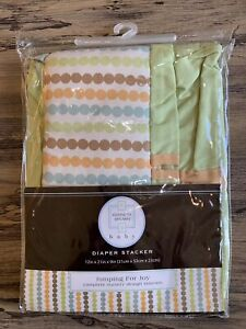 Kenneth Brown Baby Jumping For Joy Diaper Stacker Green Multicolor