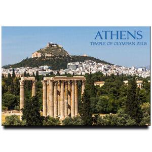 Temple of Olympian Zeus fridge magnet Athens Greece travel souvenir