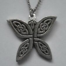 Chain Necklace #1135 Pewter CELTIC BUTTERFLY (28mm x 26mm)