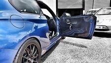 2x BMW E87 1 Series 1mm CARBON FRONT Door Card Panels* Motorsport Race Track Car