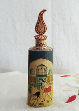 Vintage Oriental BONE Made Perfume Bottle -Hand Pained Erotic Scene Perfume Box