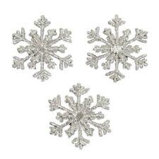 SET of 3 CHRISTMAS SNOWFLAKE IRON ON  APPLIQUES 2941-J