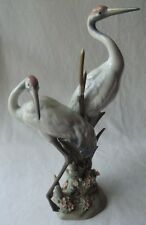 "GORGEOUS 1989 LLADRO ""COURTING CRANES"" PORCELAIN GLAZED FIGURINE # 1611"