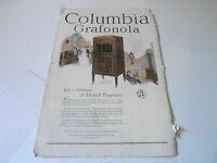 VINTAGE MAGAZINE AD #1342 - 1920 COLUMBIA GRAFONOLA PHONOGRAPH