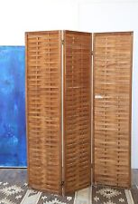 Vintage Mid century Modern Teak wood room divider Screen 3 panel screen