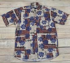 Rare Vintage EMPORIO ARMANI Floral Print Short Sleeve Hawaiian Shirt Size 16-41