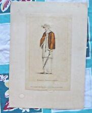 AUTHENTIC ANTIQUE 1809 ART FASHION PRINT MORNING WALKING DRESS ACKERMANN'S