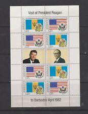 Nice Barbados Reagan u/mint mini sheet