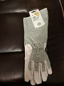 wilko Womens/Ladies Gauntlet Garden Glove Patterned Medium Gloves Size M UK NEW