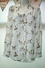 DOG PRINT SHIRT/BLOUSE SIZE 10 BY TU NEW WITHOUT TAGS