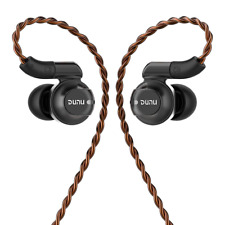 DUNU - DK-4001 Hybrid Driver In-Ear Headphones w SpinFit Tips, One Year Warranty