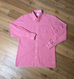 Olymp Luxor Modern Fit Trachten Herren Hemd Rot Kariert 40 15 3/4 100% Baumwolle