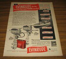 1950 Vintage Ad Evinrude Fleetwin 7.5 HP, Fastwin 14 HP Outboard Motors
