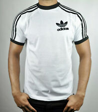 Adidas 3 Stripes T-Shirt Crew Neck Short Sleeves Size - L in White