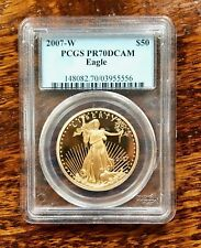 2007-W $50 Gold American Eagle /Statue of Liberty PCGS PR70 DCAM
