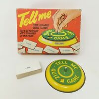 Vintage Tell Me The Grand Quiz Game Lots Of Fun For Any Number Of Players Retro