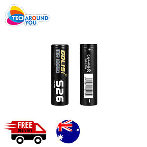 2x Golisi S26 IMR 2600mAh 35A Lithium Rechargeable Battery with Battery Case