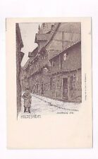 GERMANY antique udb post card Hildesheim Andreas Str. Signed by Artist