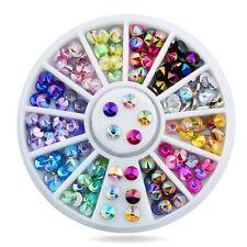 12 Farben 3D Acryl Kristall Strassteine Nageldesign Dekoration Fingernägel Nail