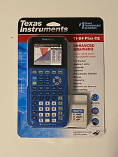 Brand New Sealed Texas Instruments Ti 84 Plus Ce Graphing Calculator Blue