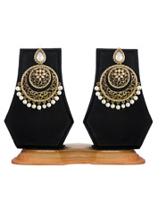 Bollywood Indian Traditional Ethnic Jhumka  Jumki  Hoop Dangle Gold Plt Earring
