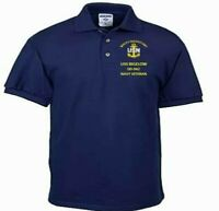 USS BIGELOW  DD-942  NAVY ANCHOR EMBROIDERED LIGHT WEIGHT POLO SHIRT