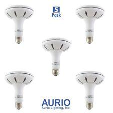 Aurio 5 Pack PAR30 LED Security Spot Light Bulb 14W 800lm 3000k E26 Dimmable