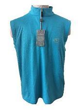 Fennec golf vest mens size M medium blue sleeveless athletic waffle vest NEW