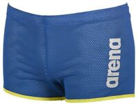 Arena Drag Shorts Square Cut Design Swimming Water Resistance Training - Royal